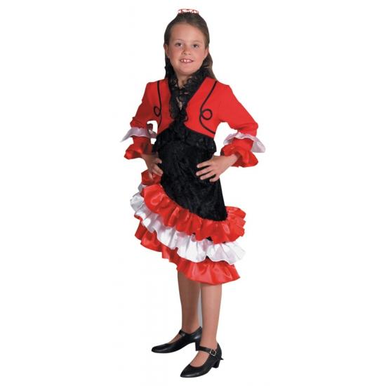 Carnaval Spaans kinder jurkje meisjes