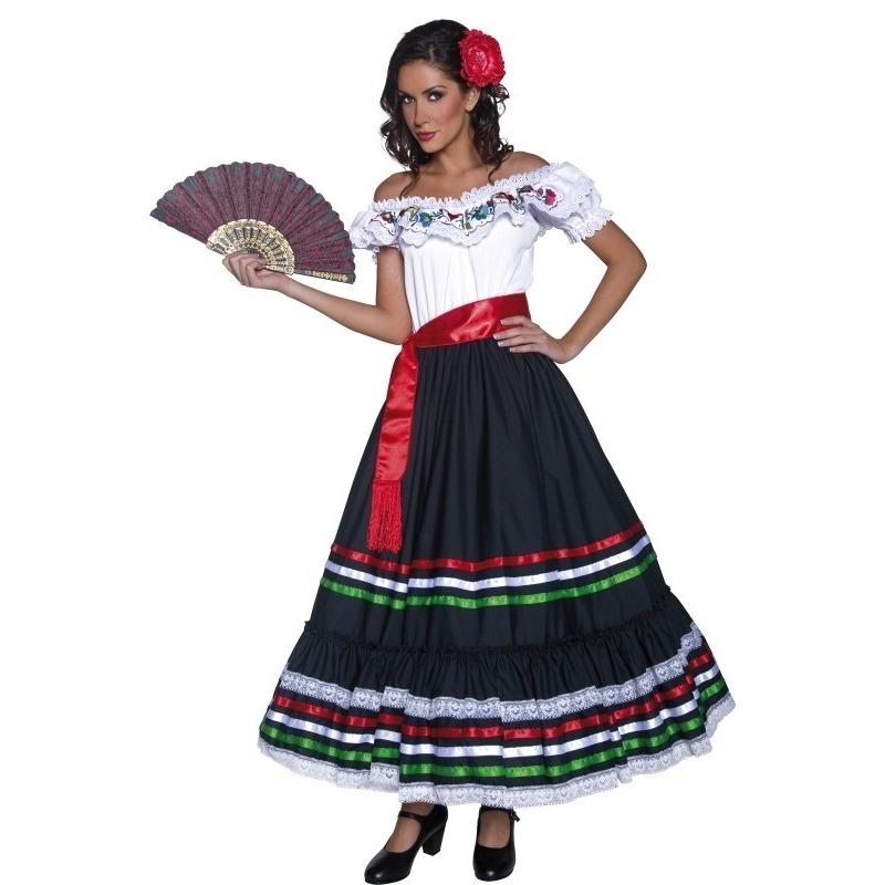 Carnaval Spaanse danseres kostuum voor dames