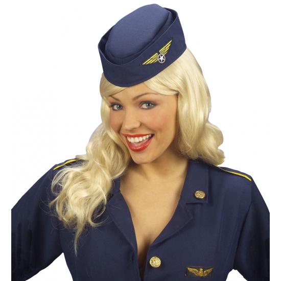 Carnaval Stewardess hoedje Carnavalskostuum winkel voordeligste prijs