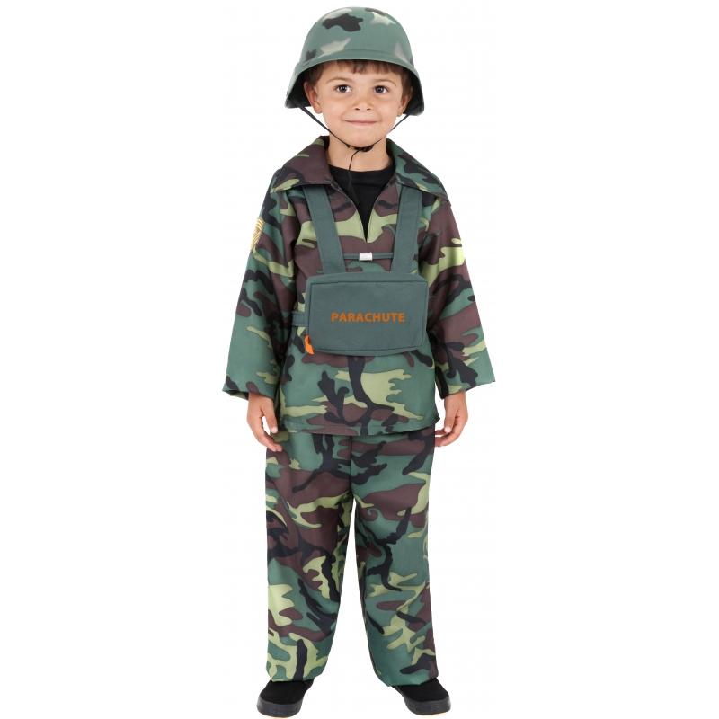 Carnaval Stoer leger kostuum voor kinderen Smiffys Beroepen kostuums