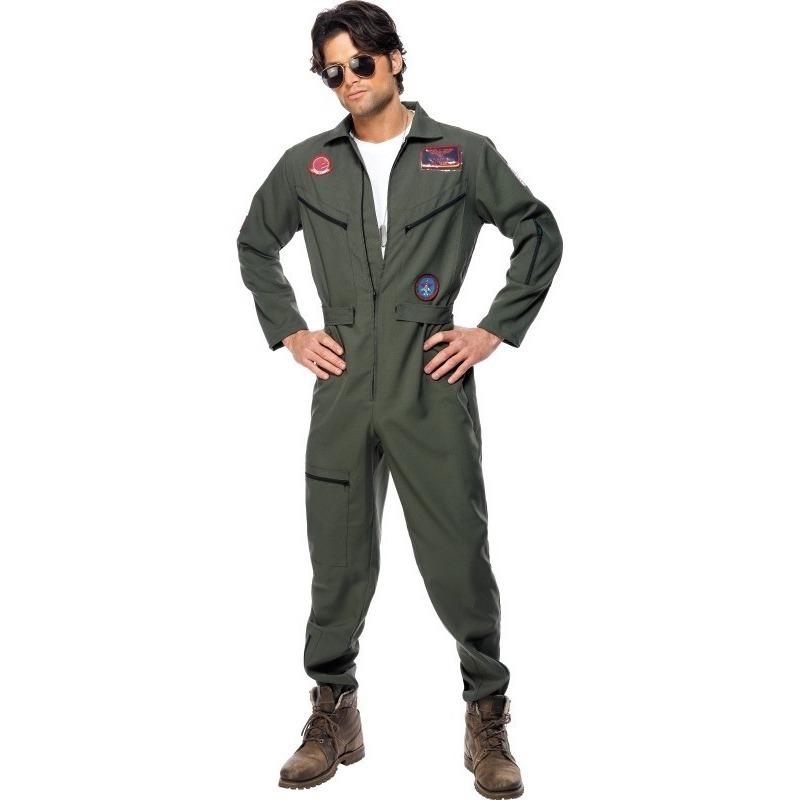 Carnaval Straaljager piloten jumpsuit voor heren