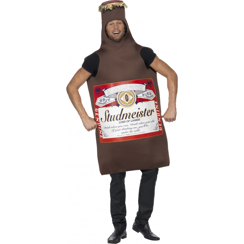 Carnaval Studmeister bierfles kostuum