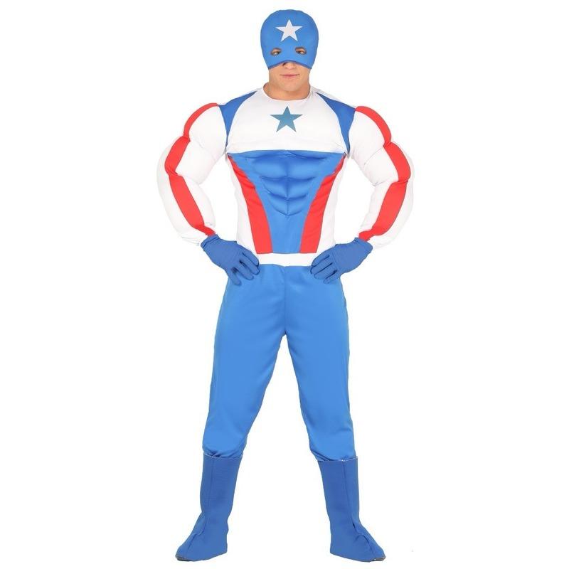 Carnaval Superheld kapitein Amerika kostuum voor heren