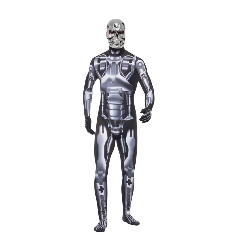 Carnaval Terminator Endoskeleton kostuum voor heren