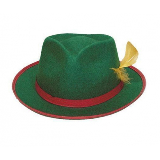 Carnavalskostuum winkel Carnaval Tiroler hoedje groen Feest hoeden