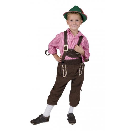 Carnavalskostuum winkel Carnaval Tiroler lederhose voor kinderen Oktoberfest kostuums