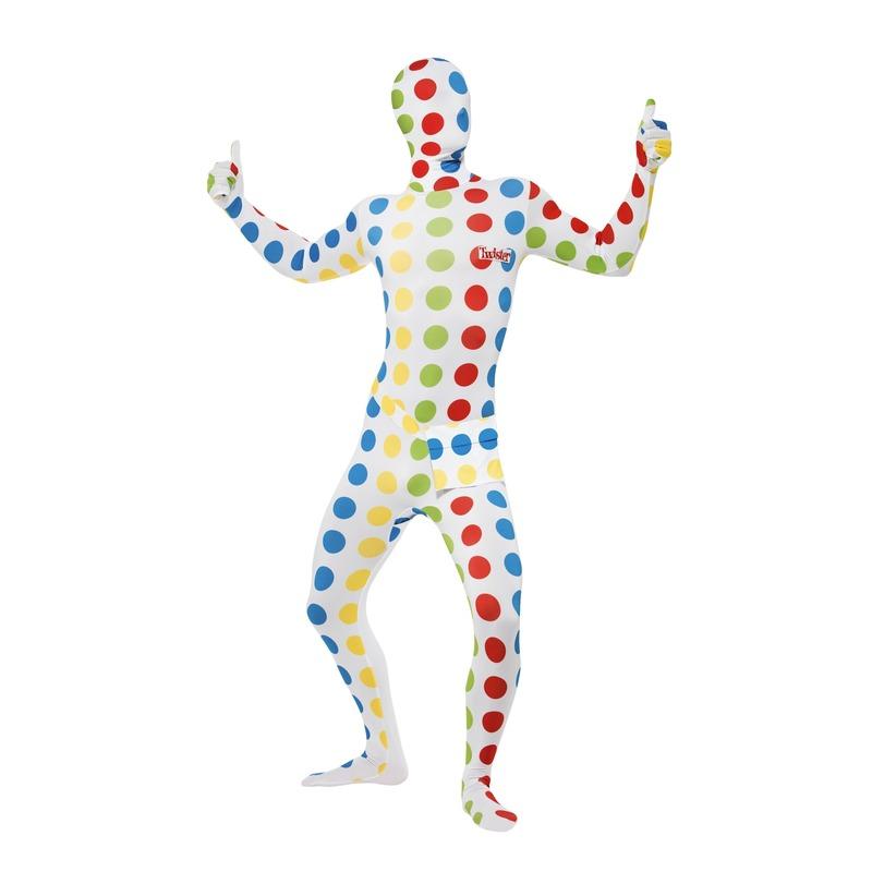 Carnaval Twister second skin pak voor volwassenen