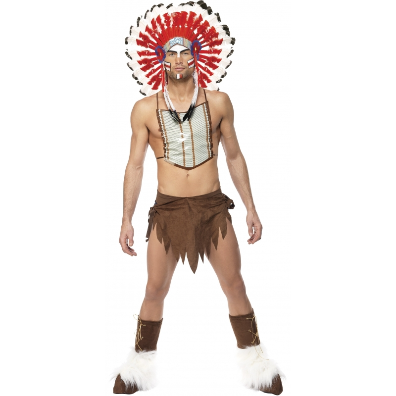 Carnaval Village People Indian kostuum