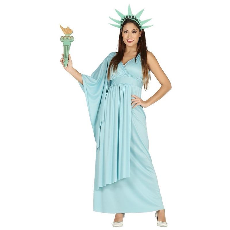 Carnaval Vrijheidsbeeld verkleedjurk voor dames