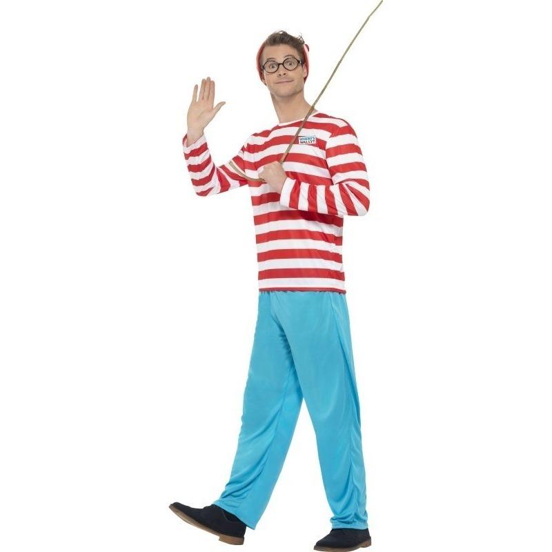 Carnaval Waar is Wally kostuum voor heren