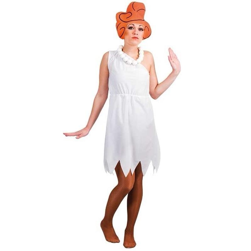 Carnaval Wilma jurk met pruik voor dames