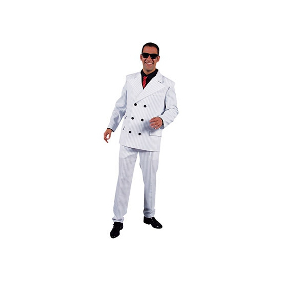 Carnaval Wit heren gangster kostuum