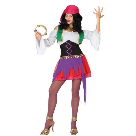 Carnaval Zigeunerin kostuum 3-delig voor dames