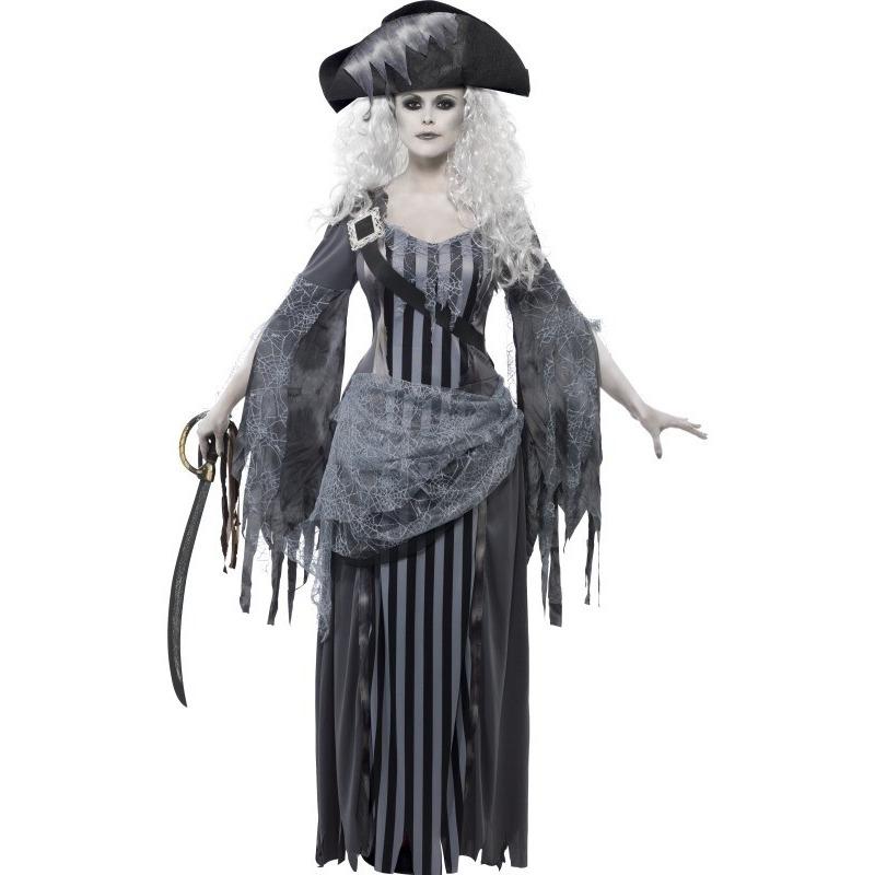 Carnaval Zombie piraten kostuum voor dames