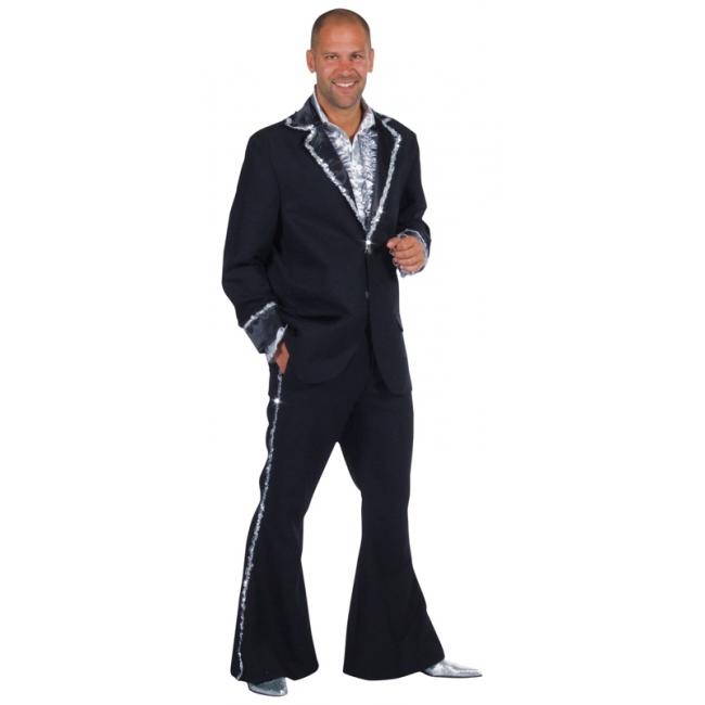 Carnaval Zwart Bling Bling kostuum heren