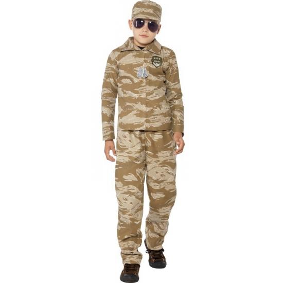 Beroepen kostuums Smiffys Carnavalskleding leger kostuum voor kinderen