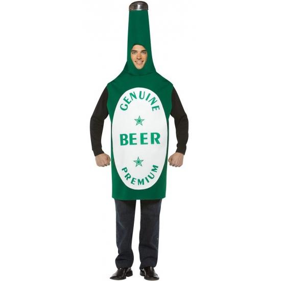 Carnavalskostuum bierfles voor heren