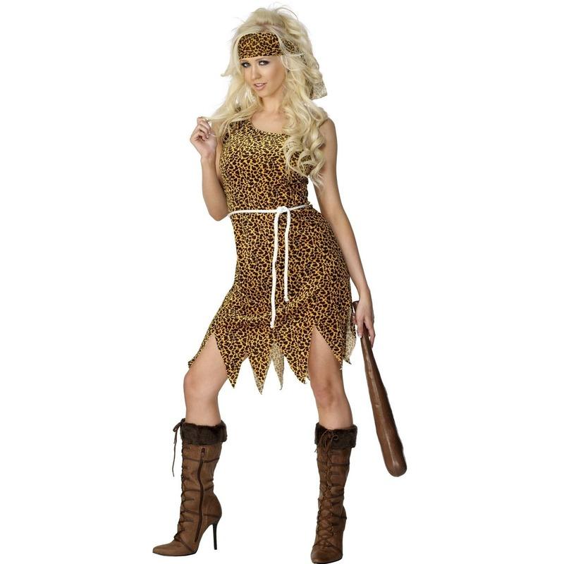Geschiedenis kostuums Cavewoman verkleedjurkje