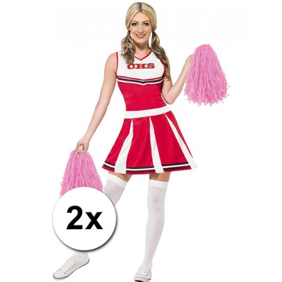 €200000 Aanbieding Carnavalskostuum winkel Cheerballs roze 2 stuks
