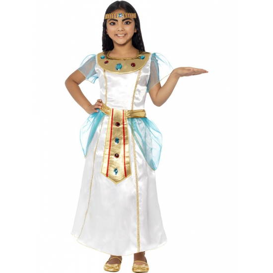 Cleopatra jurk voor meisjes Smiffys Geschiedenis kostuums