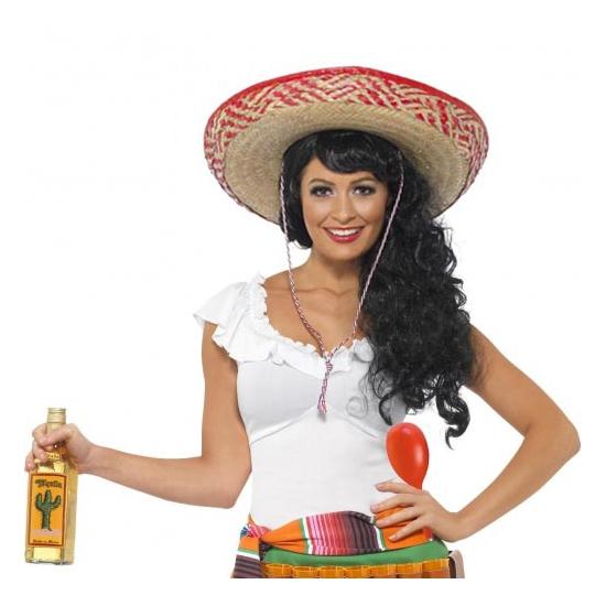 Carnavalskostuum winkel Complete Mexicaanse verkleedset voor dames Thema feestartikelen