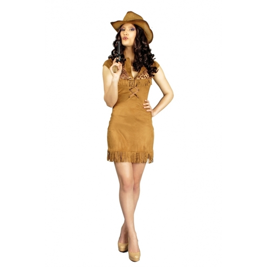 Cowboy jurk Nancy voor dames Carnavalskostuum winkel Geschiedenis kostuums