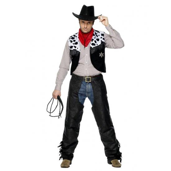 Cowboy verkleedkleren zwart
