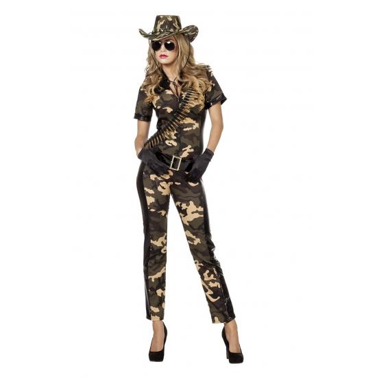 Dames kostuum in camouflage print
