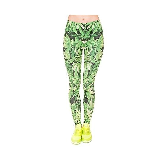 dames-party-legging-wietblaadjes-print