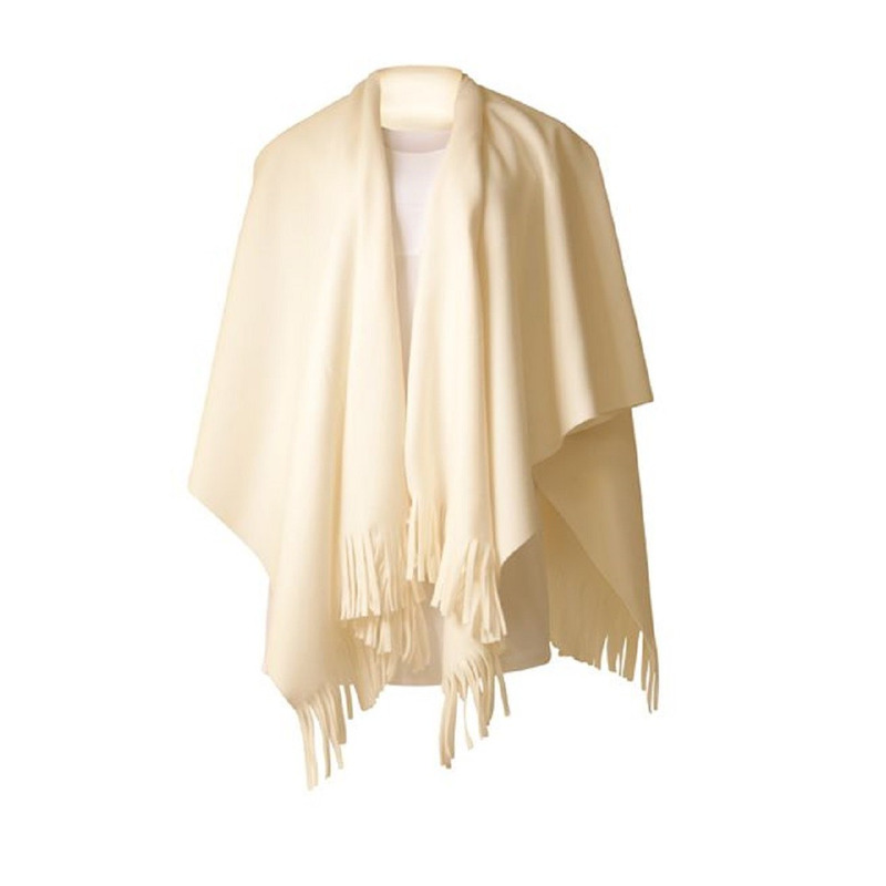 Dames poncho sjaal wit