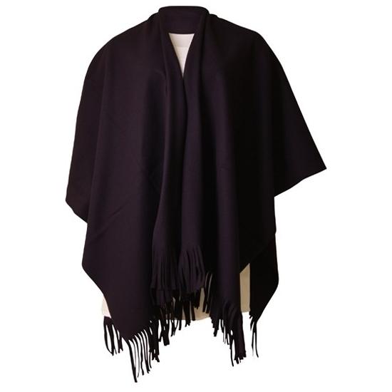 Dames poncho sjaal zwart