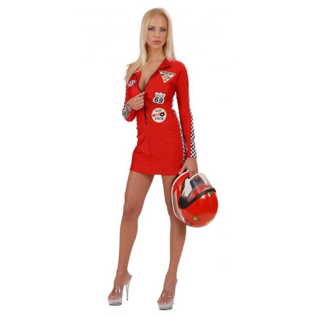 Dames race kostuum rood