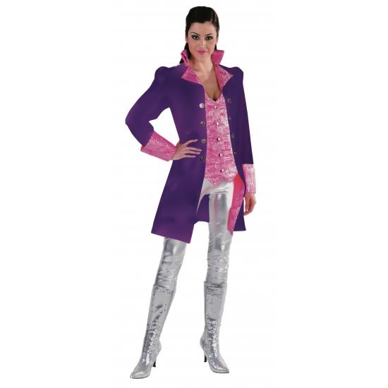 Dames verkleed jas in het paars