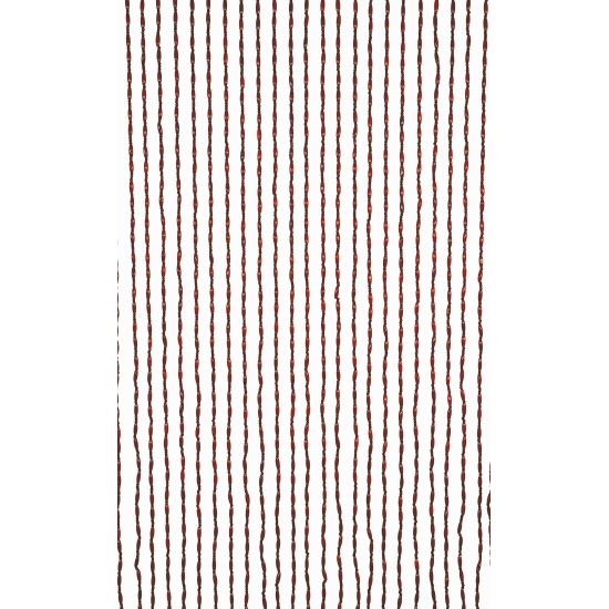 Deurgordijn houten kralen bruin 220 cm