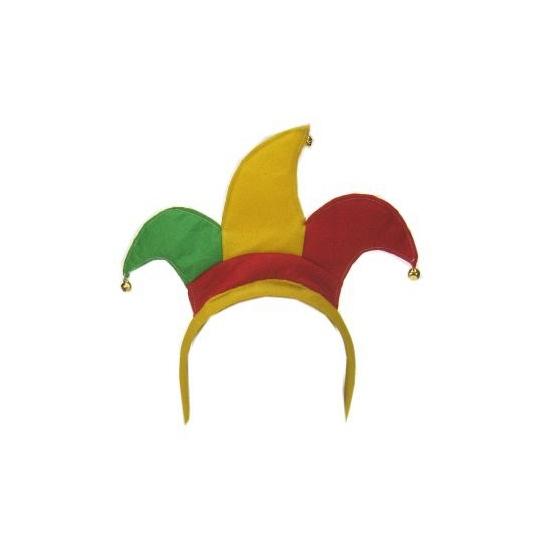 Diadeem Harlekijn rood geel groen Geen beste prijs