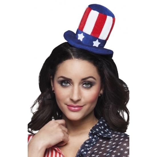 Diadeem met Uncle Sam hoedje Carnavalskostuum winkel Landen versiering en vlaggen