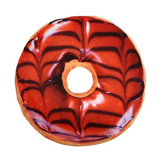 Donut kussen bruin 40 cm