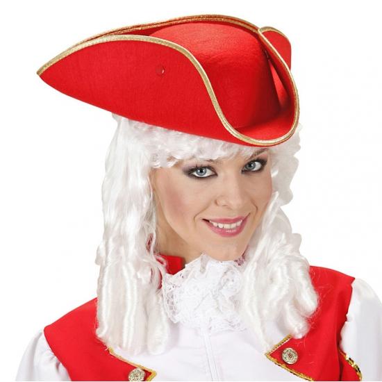 Feest hoeden Carnavalskostuum winkel Driehoekige piratenhoed rood