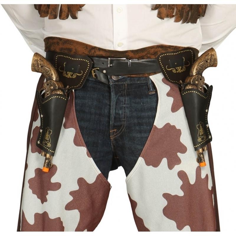 Wapens Dubbele revolver holsters inclusief pistolen 29 cm