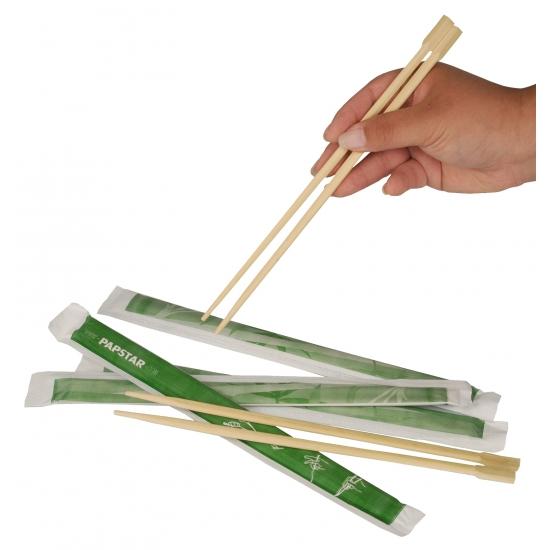 Eetstokjes van bamboe hout 2 stuks Carnavalskostuum winkel Geweldig