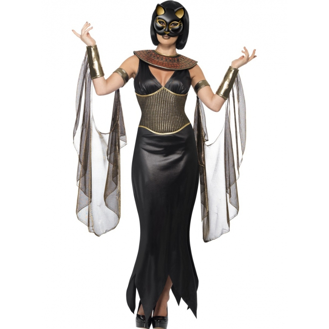 Egyptische thema kleding Bastet Smiffys beste prijs