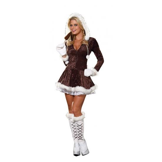 0a8288d5d7815e Eskimo kerstjurkje voor dames in de Carnavalskostuum winkel.