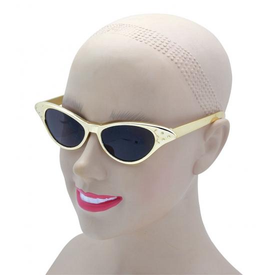 Feest zonnebril goudkleurig
