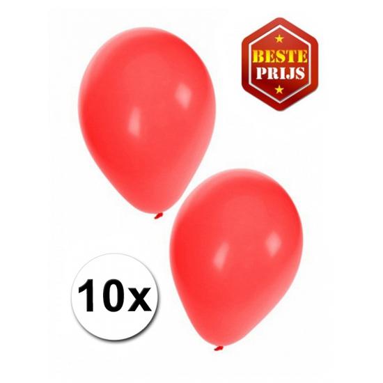 feestartikelen-10-rode-ballonnen