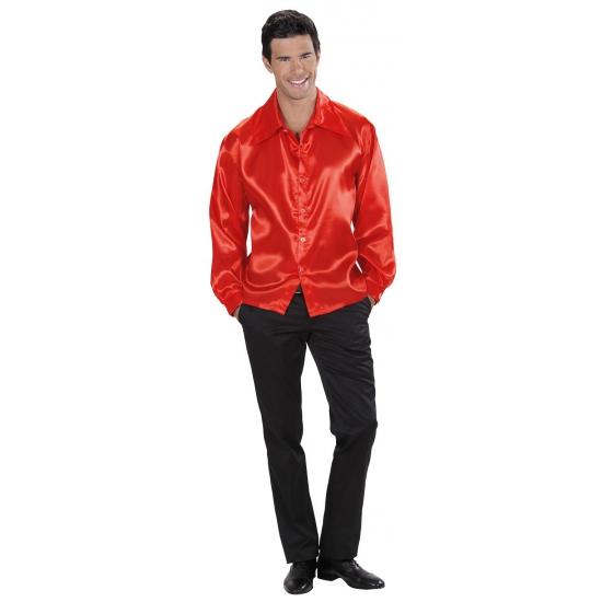 Feestkleding rood heren overhemd