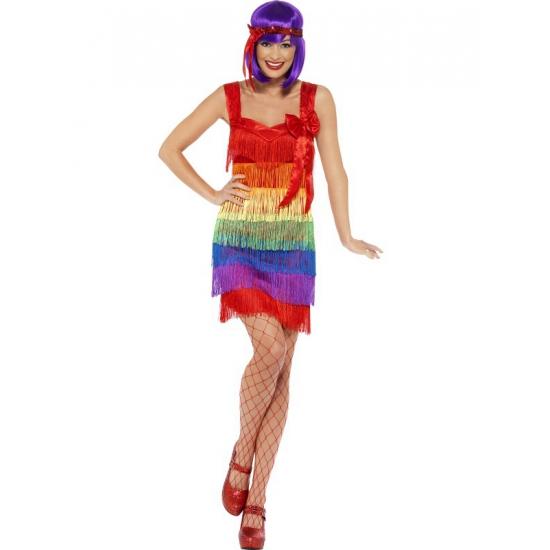 Gay pride Regenboog flapper jurkje