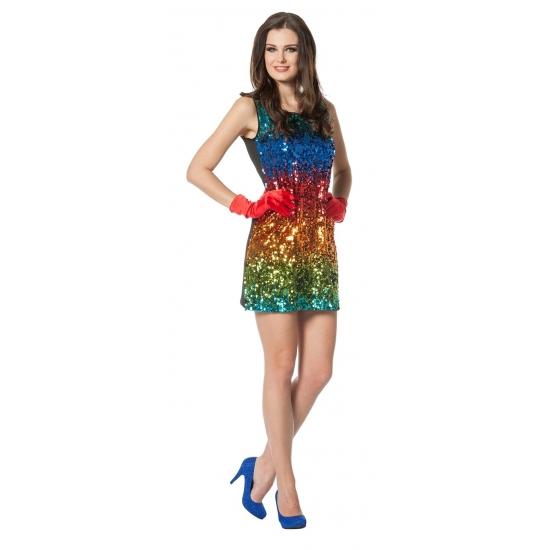Gay pride Regenboog pailletten jurkje