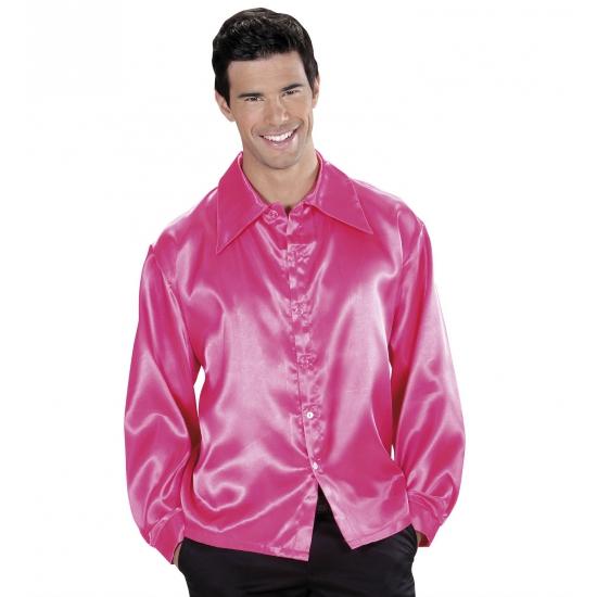 Gay pride Roze satijnen blouse
