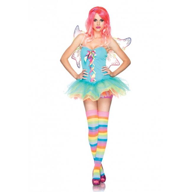 Gekleurde fee kostuums
