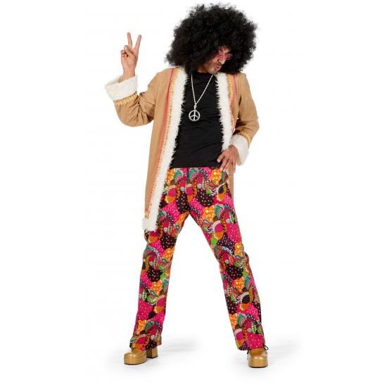 Gekleurde hippie broek met jas